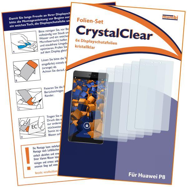 Displayschutzfolie 6 Stck. CrystalClear für Huawei P8