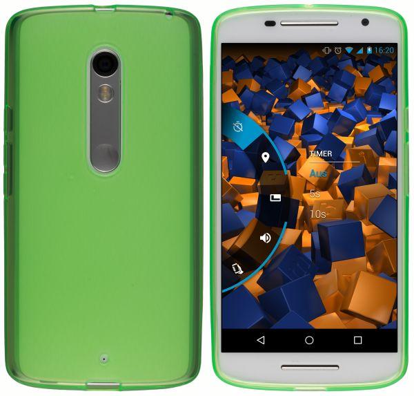 TPU Hülle grün transparent für Motorola Moto X Play