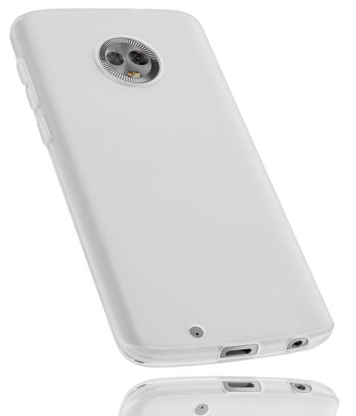 TPU Hülle weiß transparent für Motorola Moto G6
