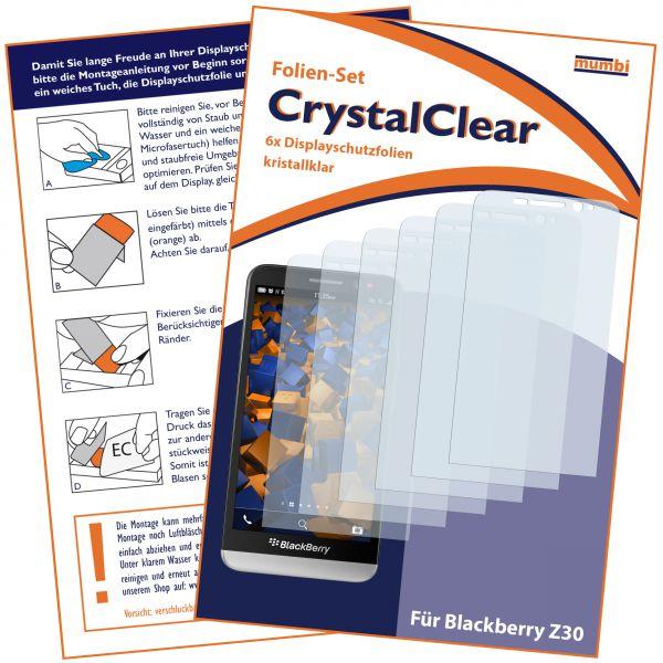 Displayschutzfolie 6 Stck. CrystalClear für BlackBerry Z30
