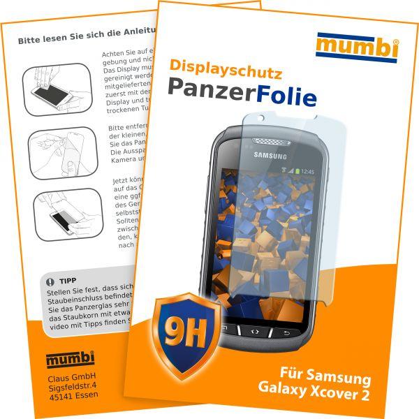 Panzerglasfolie Hartglas 9H für Samsung Galaxy Xcover 2
