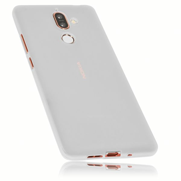 TPU Hülle weiß transparent für Nokia 7 Plus