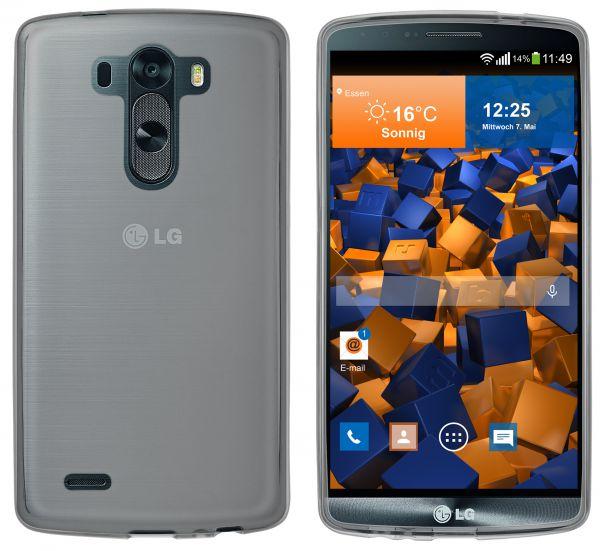 TPU Hülle transparent schwarz für LG G3