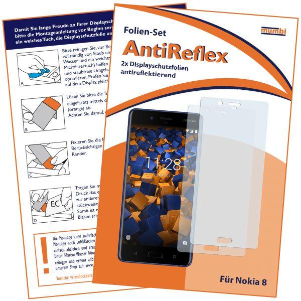 Displayschutzfolie 2 Stck. AntiReflex für Nokia 8