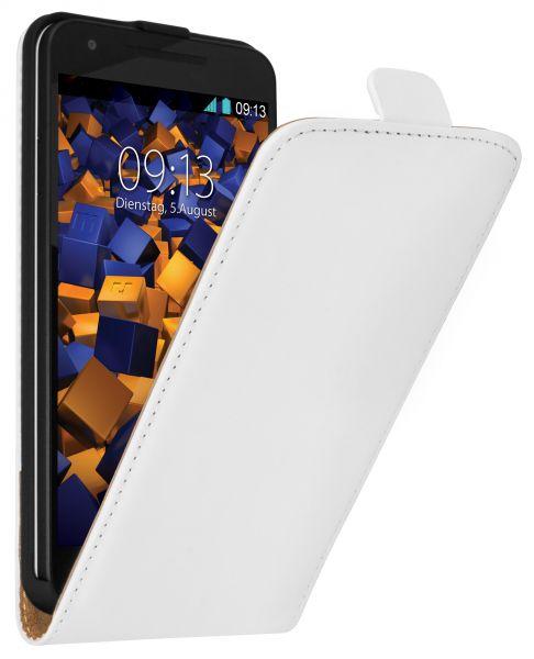 Flip Case Tasche weiß für LG Google Nexus 5X