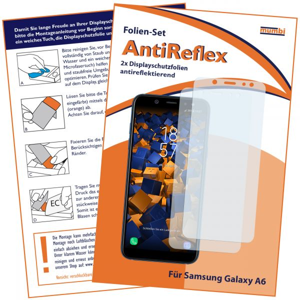 Displayschutzfolie 2 Stck. AntiReflex für Samsung Galaxy A6