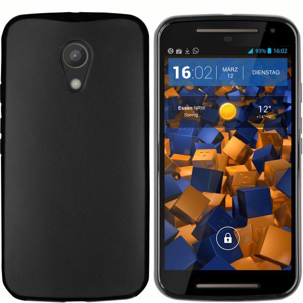 TPU Hülle schwarz für Motorola Moto G 2. Generation