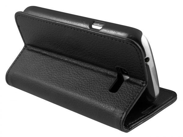 Bookstyle Tasche schwarz für Samsung Galaxy Trend Lite