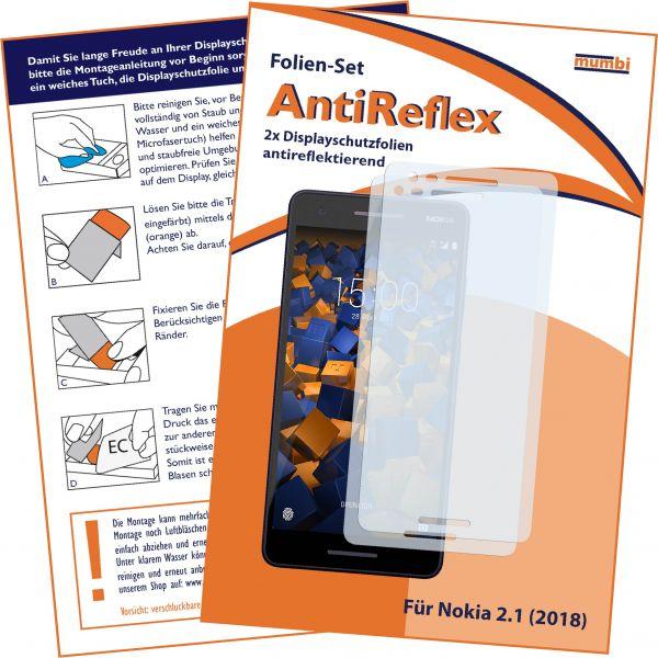 Displayschutzfolie 2 Stck. AntiReflex für Nokia 2.1 (2018)