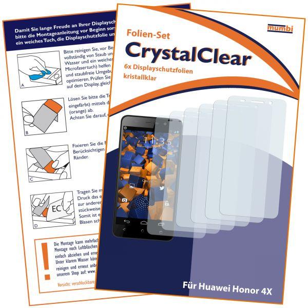 Displayschutzfolie 6 Stck. CrystalClear für Huawei Honor 4X
