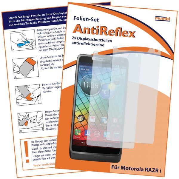 Displayschutzfolie 2 Stck. AntiReflex für Motorola RAZR i