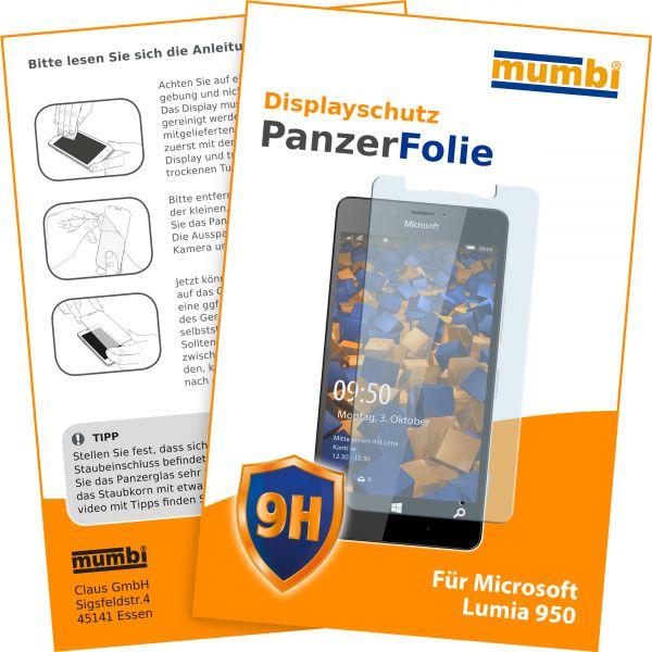 Panzerglasfolie Hartglas 9H für Microsoft Lumia 950