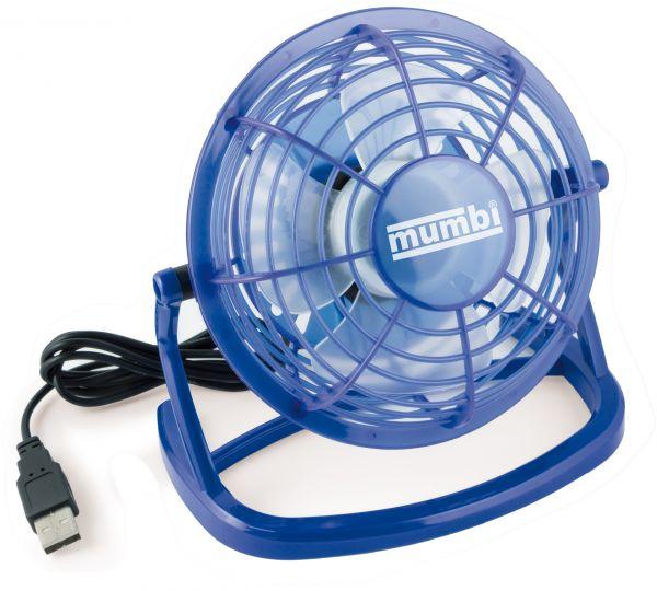 USB Ventilator mit An/Aus Schalter blau