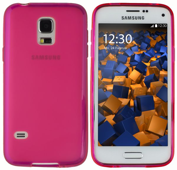 TPU Hülle pink transparent für Samsung Galaxy S5 Mini