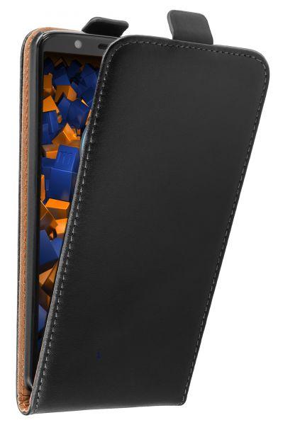 Flip Case Tasche schwarz für Motorola Moto G6 Plus