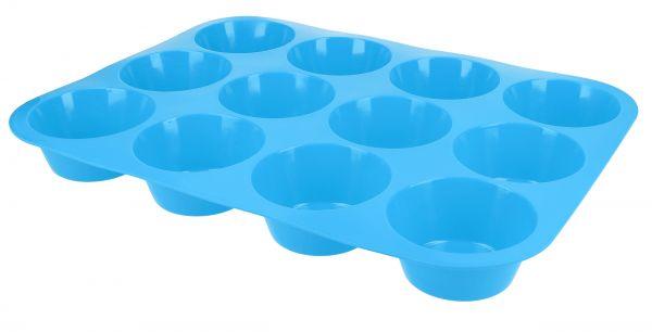 Muffinbackform für 12 Muffins in Blau