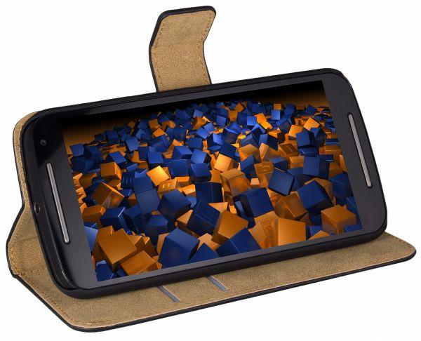 Bookstyle Tasche schwarz für Motorola Moto G 2. Generation