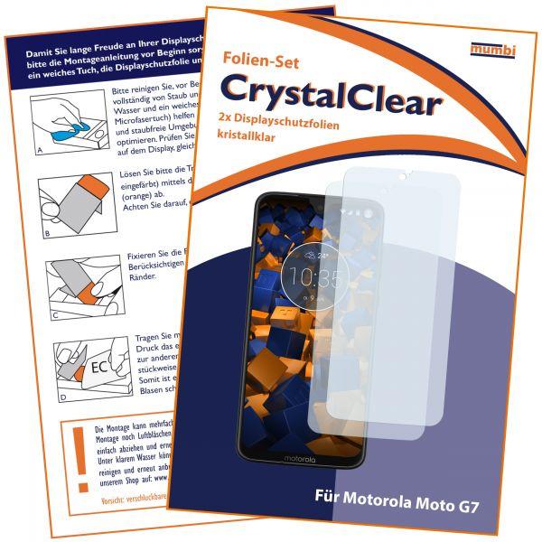 Displayschutzfolie 2 Stck. CrystalClear für Motorola Moto G7