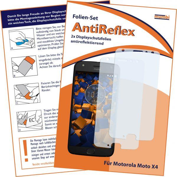 Displayschutzfolie 2 Stck. AntiReflex für Motorola Moto X4
