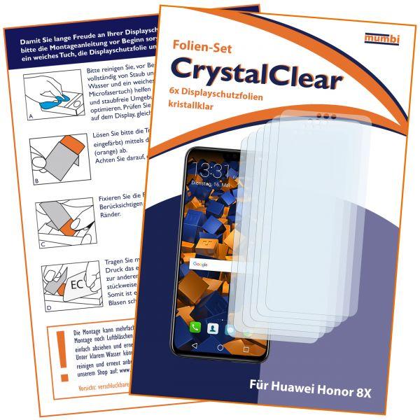 Displayschutzfolie 6 Stck. CrystalClear für Huawei Honor 8X