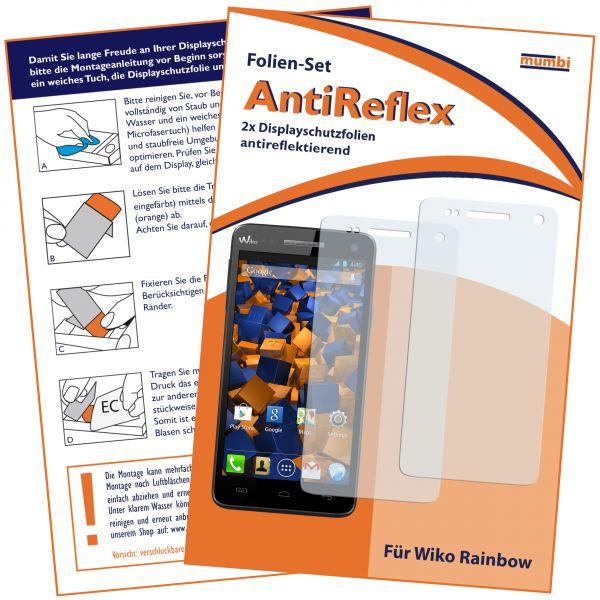 Displayschutzfolie 2 Stck. AntiReflex für Wiko Rainbow