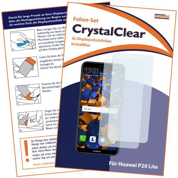 Displayschutzfolie 2 Stck. CrystalClear für Huawei P20 Lite