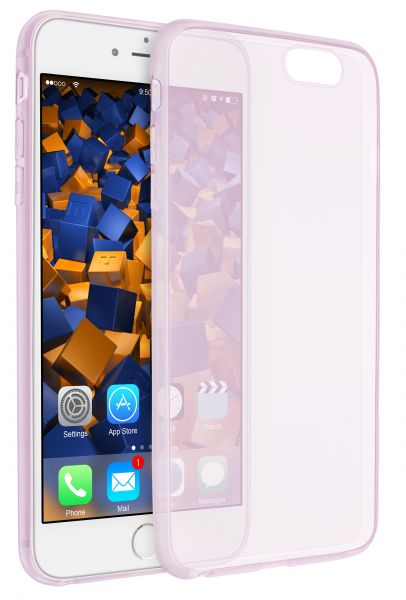 TPU Hülle Ultra Slim rosa transparent für Apple iPhone 6 Plus / 6s Plus