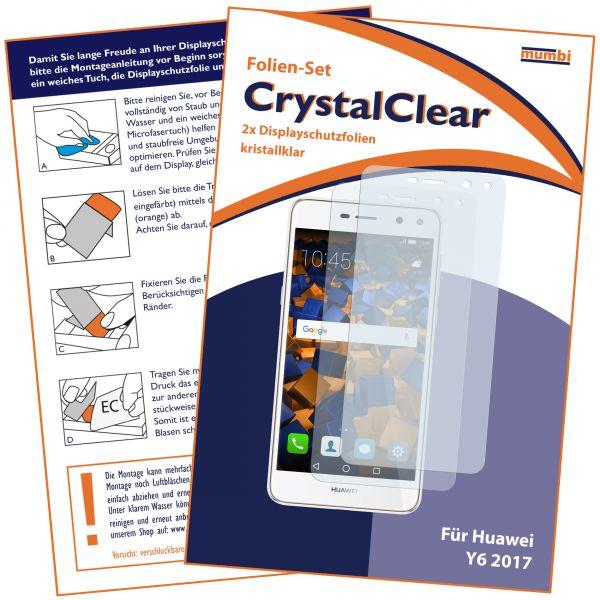 Displayschutzfolie 2 Stck. CrystalClear für Huawei Y6 (2017)