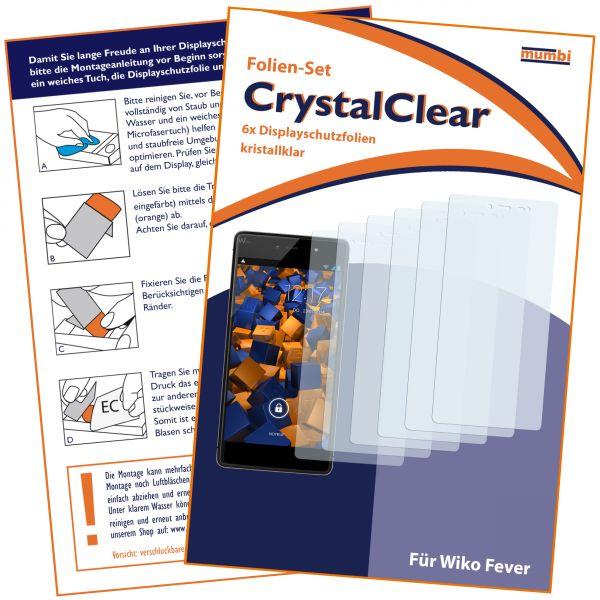 Displayschutzfolie 6 Stck. CrystalClear für Wiko Fever