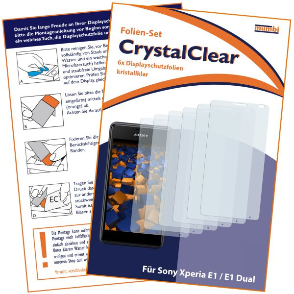 Displayschutzfolie 6 Stck. CrystalClear für Sony Xperia E1 / E1 Dual