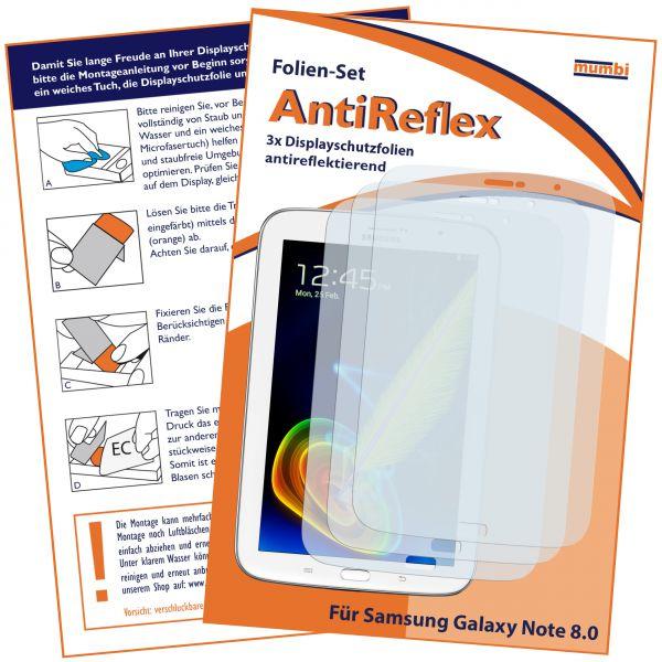 Displayschutzfolie 3 Stck. AntiReflex für Samsung Galaxy Note8 mit Telefonfunktion