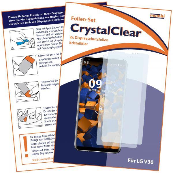 Displayschutzfolie 2 Stck. CrystalClear für LG V30 / V30S ThinQ