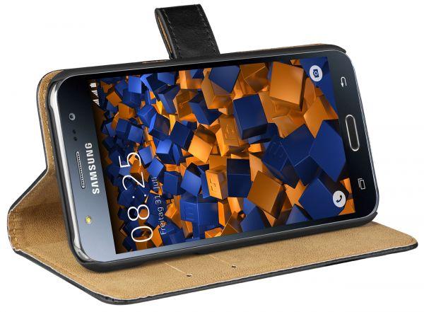 Bookstyle Tasche schwarz für Samsung Galaxy J5 (2015)