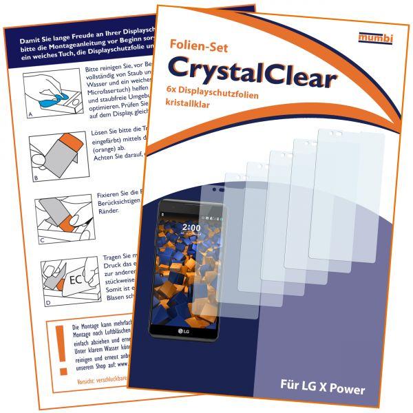 Displayschutzfolie 6 Stck. CrystalClear für LG X Power
