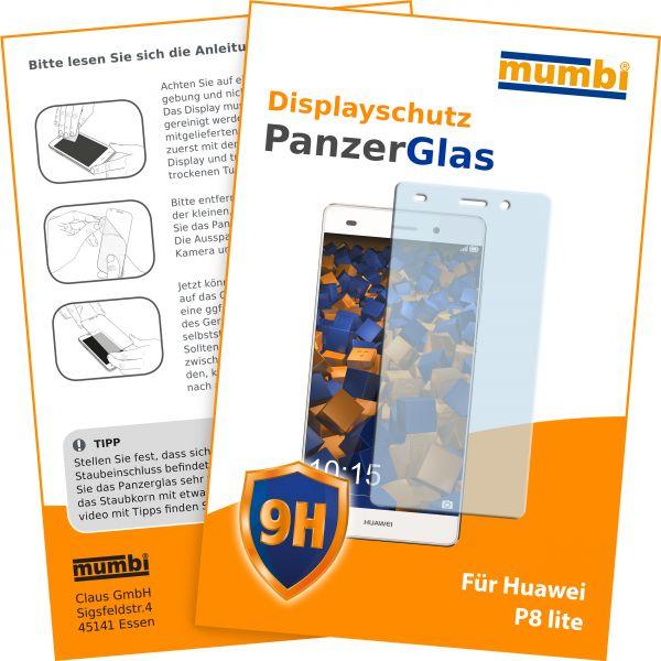 Panzerfolie Hartglas 9H für Huawei P8 Lite (2015)