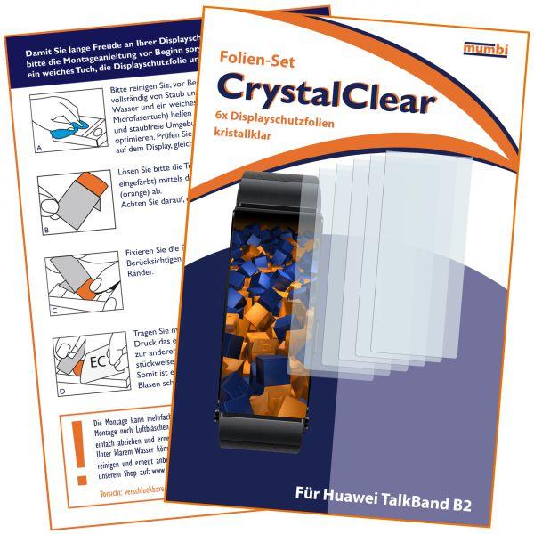 Displayschutzfolie 6 Stck. CrystalClear für Huawei TalkBand B2