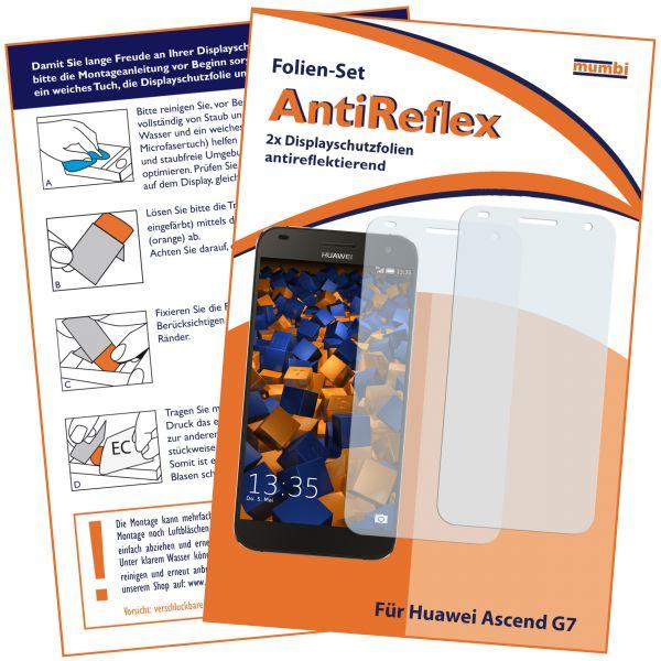 Displayschutzfolie 2 Stck. AntiReflex für Huawei Ascend G7