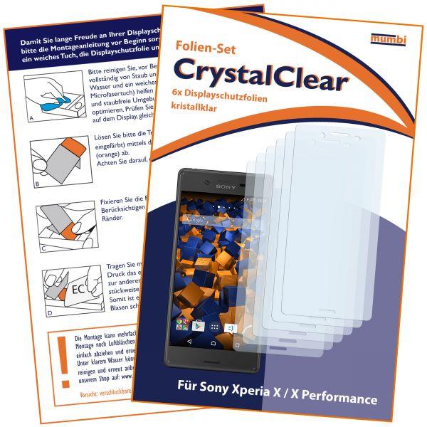 Displayschutzfolie 6 Stck. CrystalClear für Sony Xperia X und X Performance