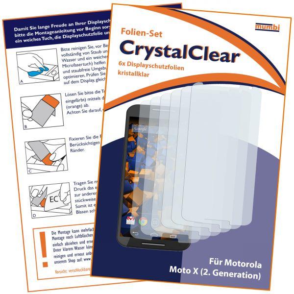Displayschutzfolie 6 Stck. CrystalClear für Motorola Moto X 2. Generation