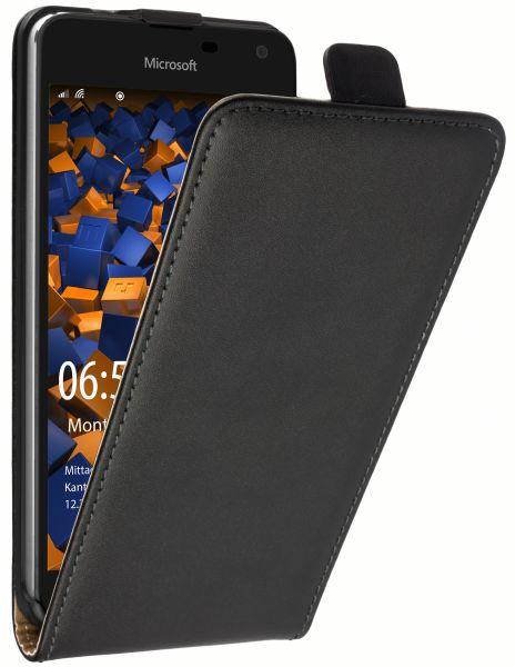 Flip Case Tasche schwarz für Microsoft Lumia 650