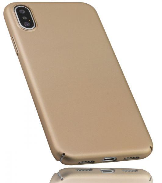 Hard Case Slim goldfarben für Apple iPhone XS / X