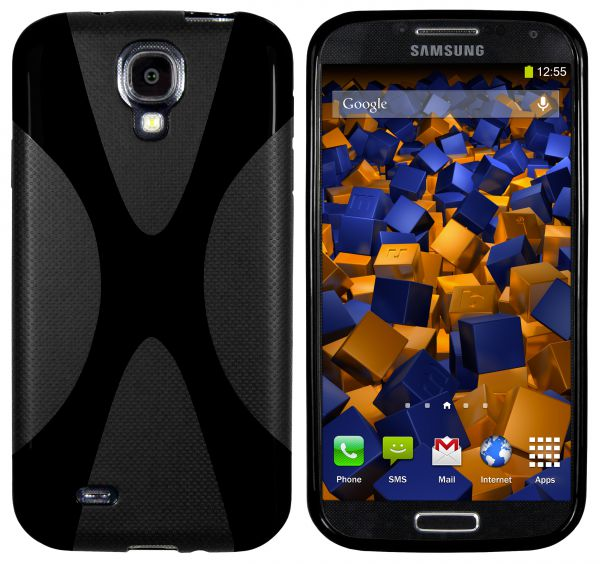 TPU Hülle X-Design schwarz für Samsung Galaxy S4