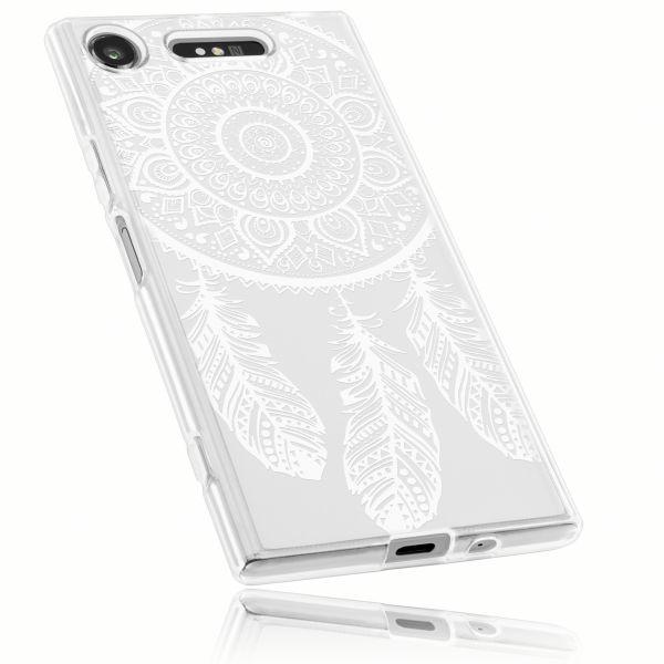 TPU Hülle Ultra Slim transparent Motiv Traumfänger für Sony Xperia XZ1