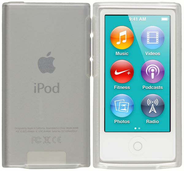 TPU Hülle weiß transparent für Apple iPod Nano 7G