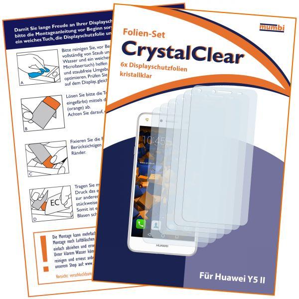 Displayschutzfolie 6 Stck. CrystalClear für Huawei Y5 II