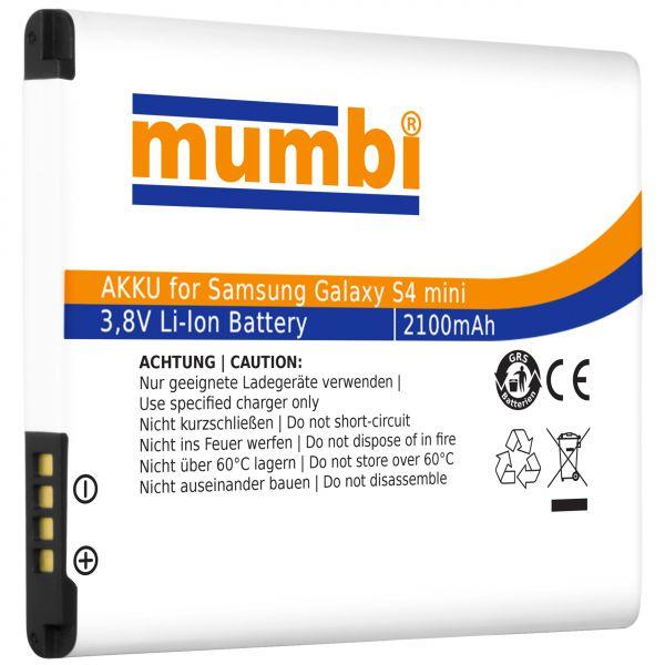 Ersatzakku Lithium-Ionen 2100 mAh (ohne NFC) für Samsung Galaxy S4 Mini