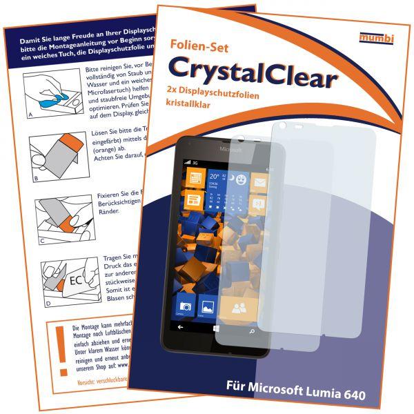 Displayschutzfolie 2 Stck. CrystalClear für Microsoft Lumia 640