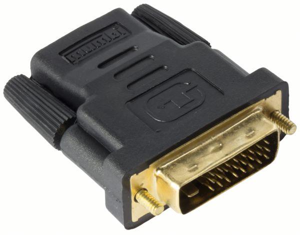 DVI-D auf HDMI Adapter vergoldet u. zertifiziert DVI-D Stecker (24+1) auf HDMI Buchse (19pol)