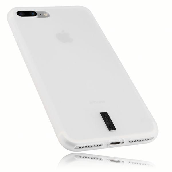 TPU Hülle weiß transparent mit Logo für Apple iPhone 8 Plus / 7 Plus