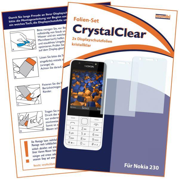 Displayschutzfolie 2 Stck. CrystalClear für Nokia 230